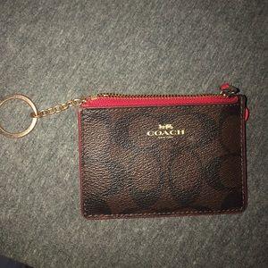 Coach mini wallet keychain